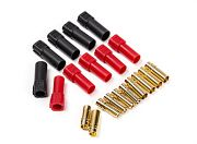 XT150 Battery Side w/6mm Gold Connectors - Red & Black (5pairs/bag) (UK Warehouse)