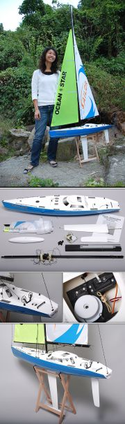 RC Ocean Going Racing Yacht 2.2m (AU Warehouse)