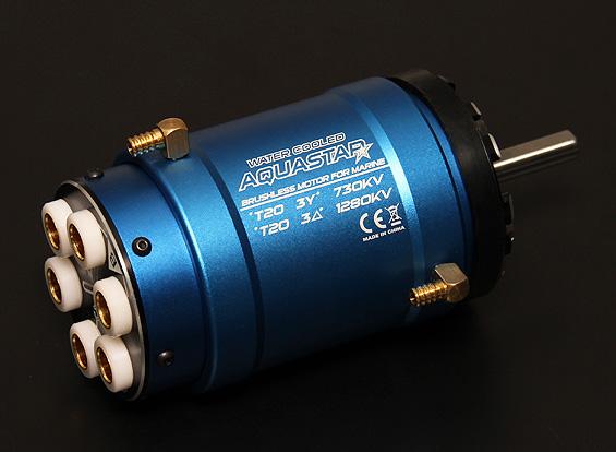 Turnigy aquastar t20 3t 730kv 1280kv water cooled for Liquid cooled ac motor