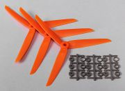 Hobbyking™ 3-Blade Propeller 7x3.5 Orange (CCW) (3pcs)