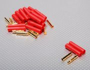 HXT 4mm Gold Connector w/ Protector (10pcs/set) (EU Warehouse)