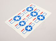 Scale National Air Force Insignia Decal Sheet - USA (Stars and Bars) ( AUS Warehouse )