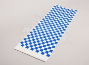 Decal Sheet Small Chequer Pattern Blue/Clear 590mmx180mm ( AUS Warehouse )