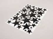 Star Black/White Various Sizes Decal Sheet 425mmx300mm (USA warehouse)