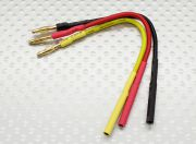 2.0mm Male/Female Bullet Brushless Motor Extension Lead 100mm (AU Warehouse)