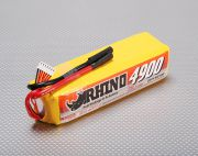 Rhino 4900mAh 6S 22.2v 25C Lipoly Pack (UK Warehouse)