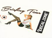 Nose Art - Briefing Time 250 x 85mm Self Adhesive Decal Set