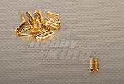 Polymax 4mm Gold Connectors (10pairs/set) (AR Warehouse)