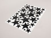 Star Black/White Various Sizes Decal Sheet 425mmx300mm (AR Warehouse)