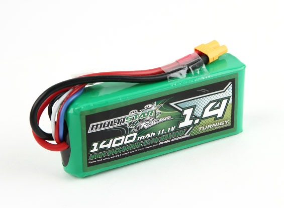 MultiStar Racer Series 1400mAh 3S 40-80C Multi-Rotor Lipo Pack For FPV Minis (AU Warehouse)