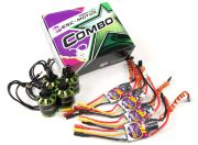 MultiStar & Afro Combo Pack - 2216-800KV and Matched 20A Afro ESC Set of 4 CW/CCW (EU Warehouse)