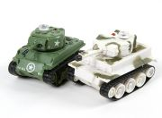 Infrared Control Micro Combat Tanks Set (M4 Sherman & German Tiger 1) (EU Warehouse)