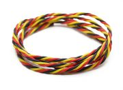 Twisted 22AWG Servo Wire Red/Black/Yellow (1mtr) (US Warehouse)