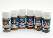 Italeri Acrylic Paint Set (Flat) - WWII Regia Aeronautica Aerei (6pc) (US Warehouse)