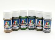 Italeri Acrylic Paint Set (Flat) - WWII USAAC Aircraft (6pc) (AR Warehouse)