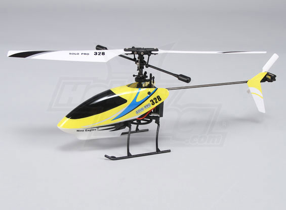 Solo Pro 328 4CH Fixed Pitch Helicopter - Yellow (RTF) (USA Warehouse)